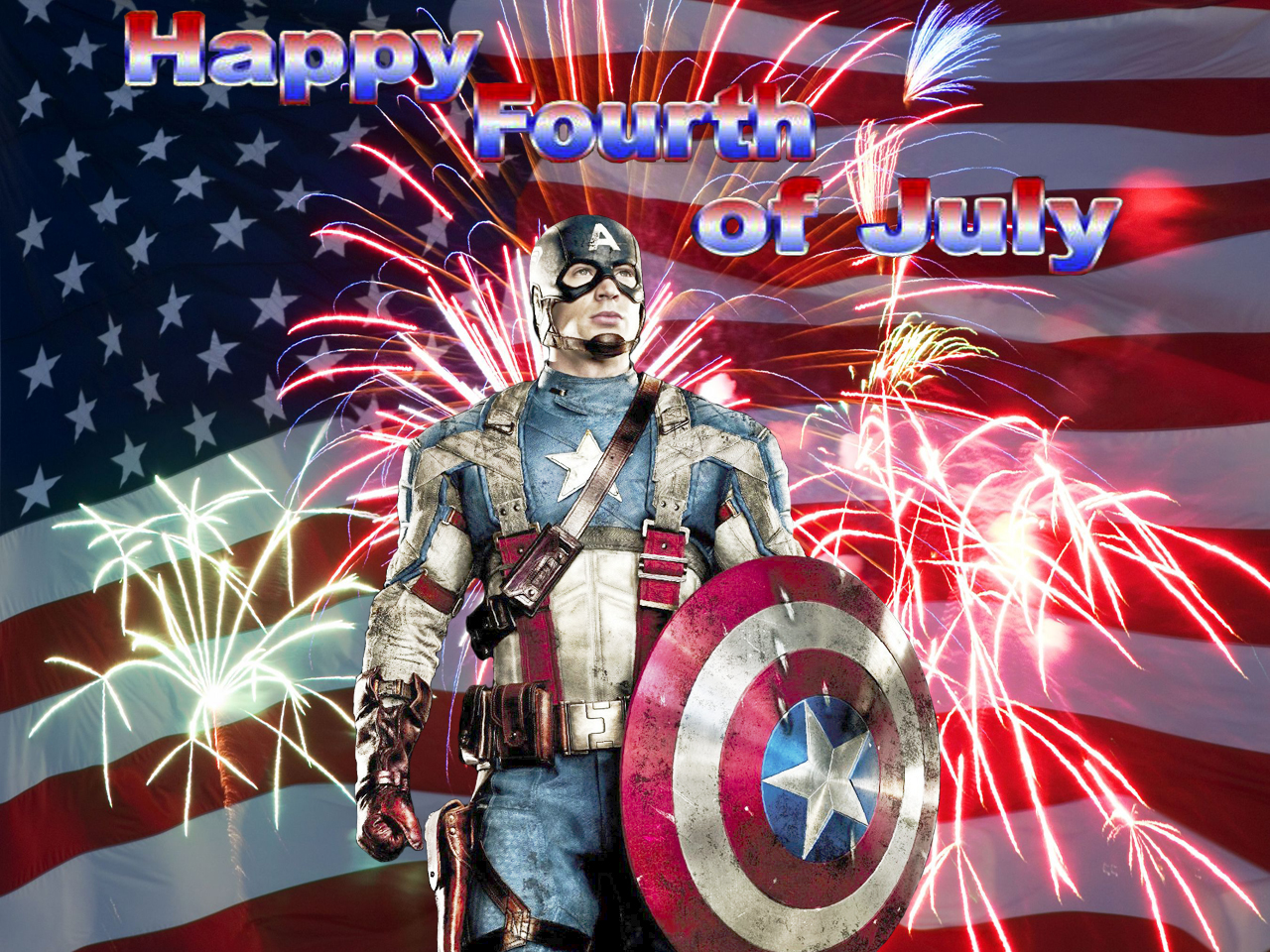 4th of July Photos Free Captain America