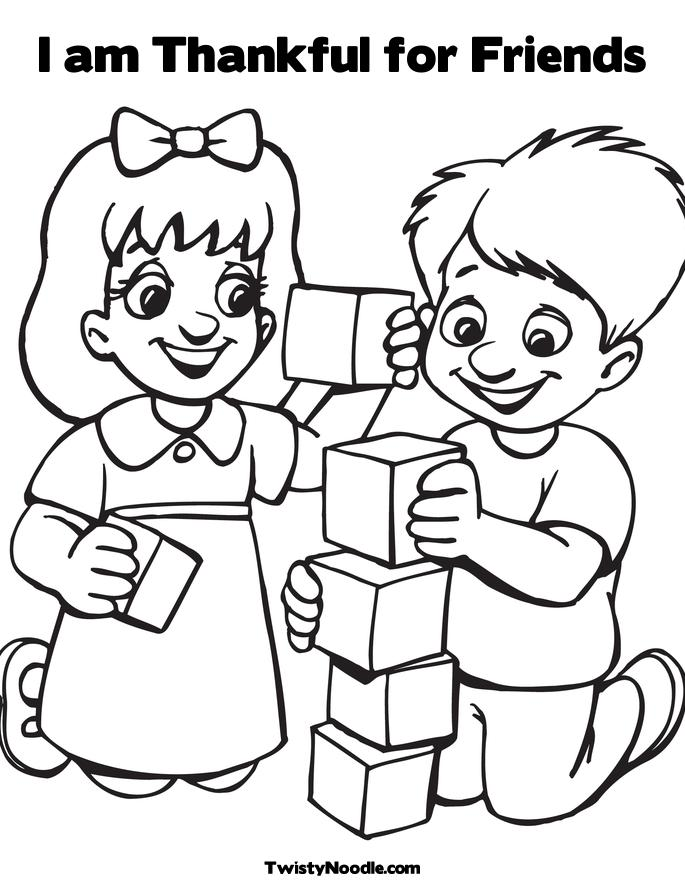 Happy Friendship Day Coloring Pages for Girls
