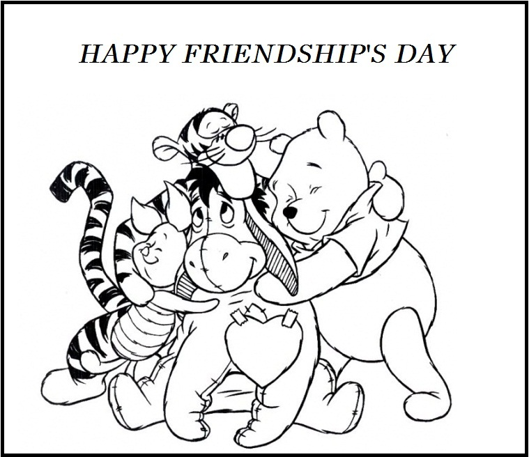 happy friendship day coloring pages for kids - Friends Quotes Coloring Pages