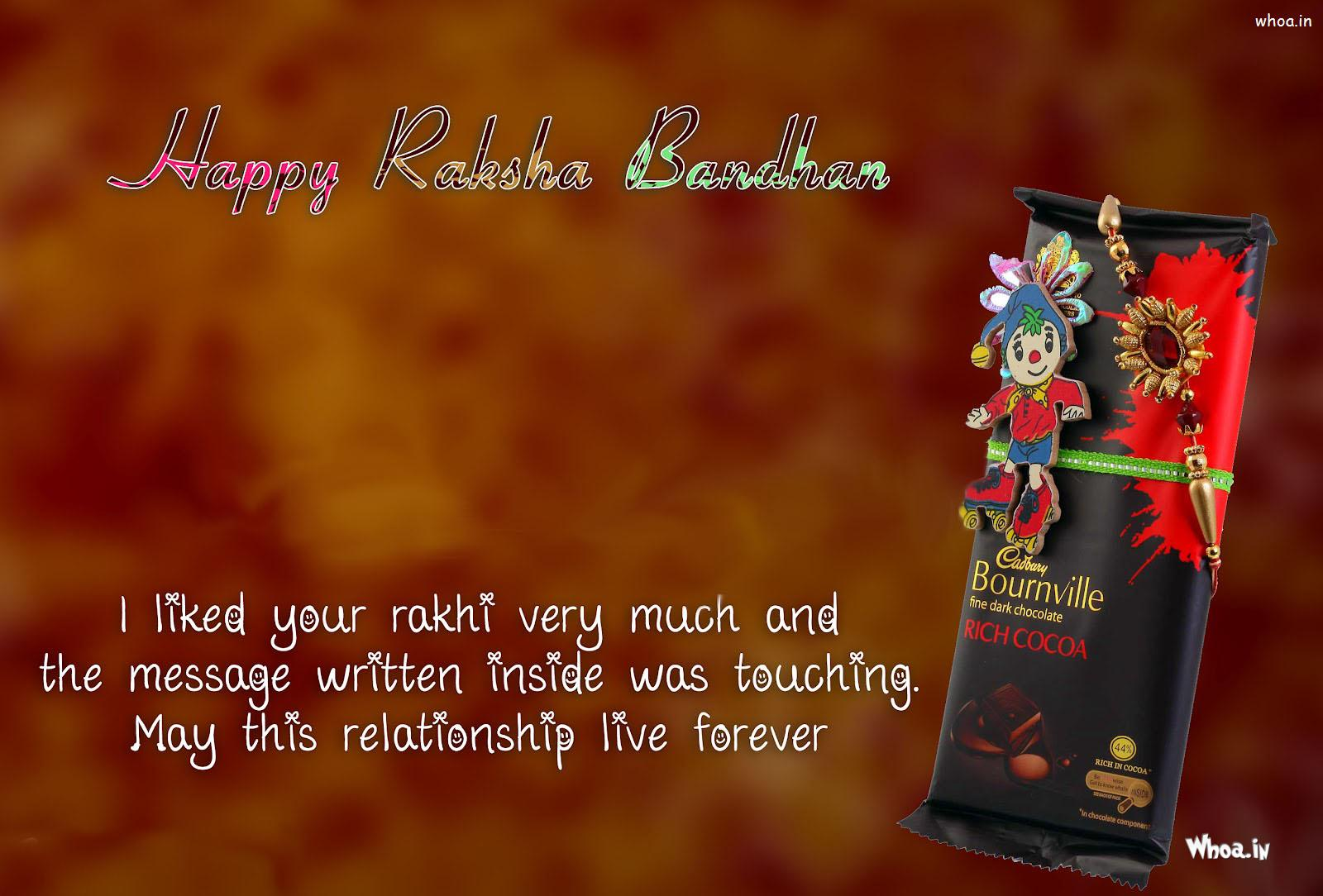 Happy Raksha Bandhan Chocolates Wishes