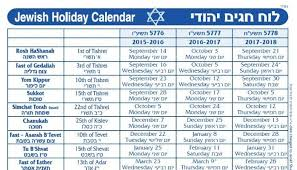 2017 October Calendar With Jewish Holidays