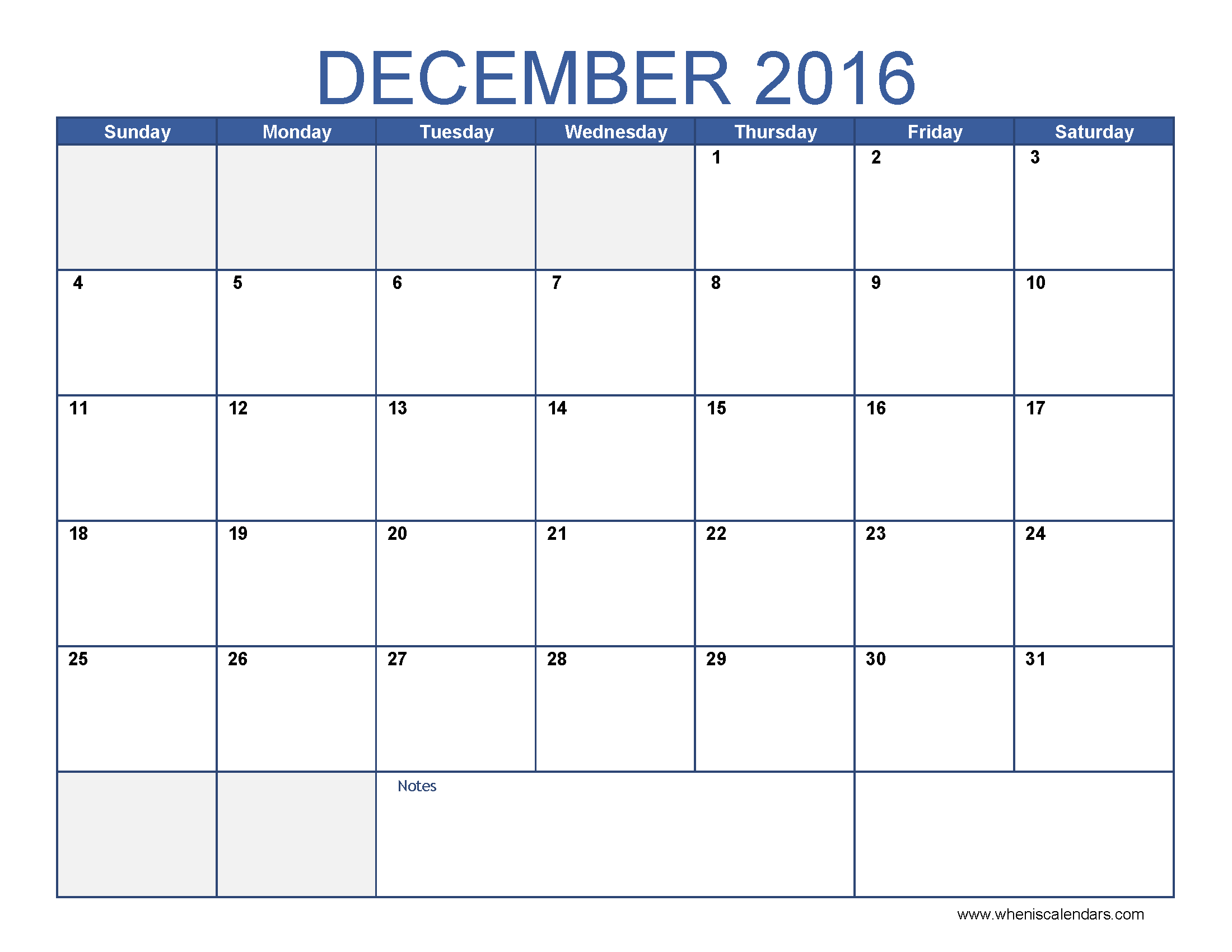 December Calendar 2016 Printable Pdf : Blank december calendar templates printable word pdf