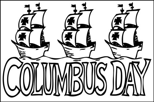 Columbus Day Coloring Pages Printable