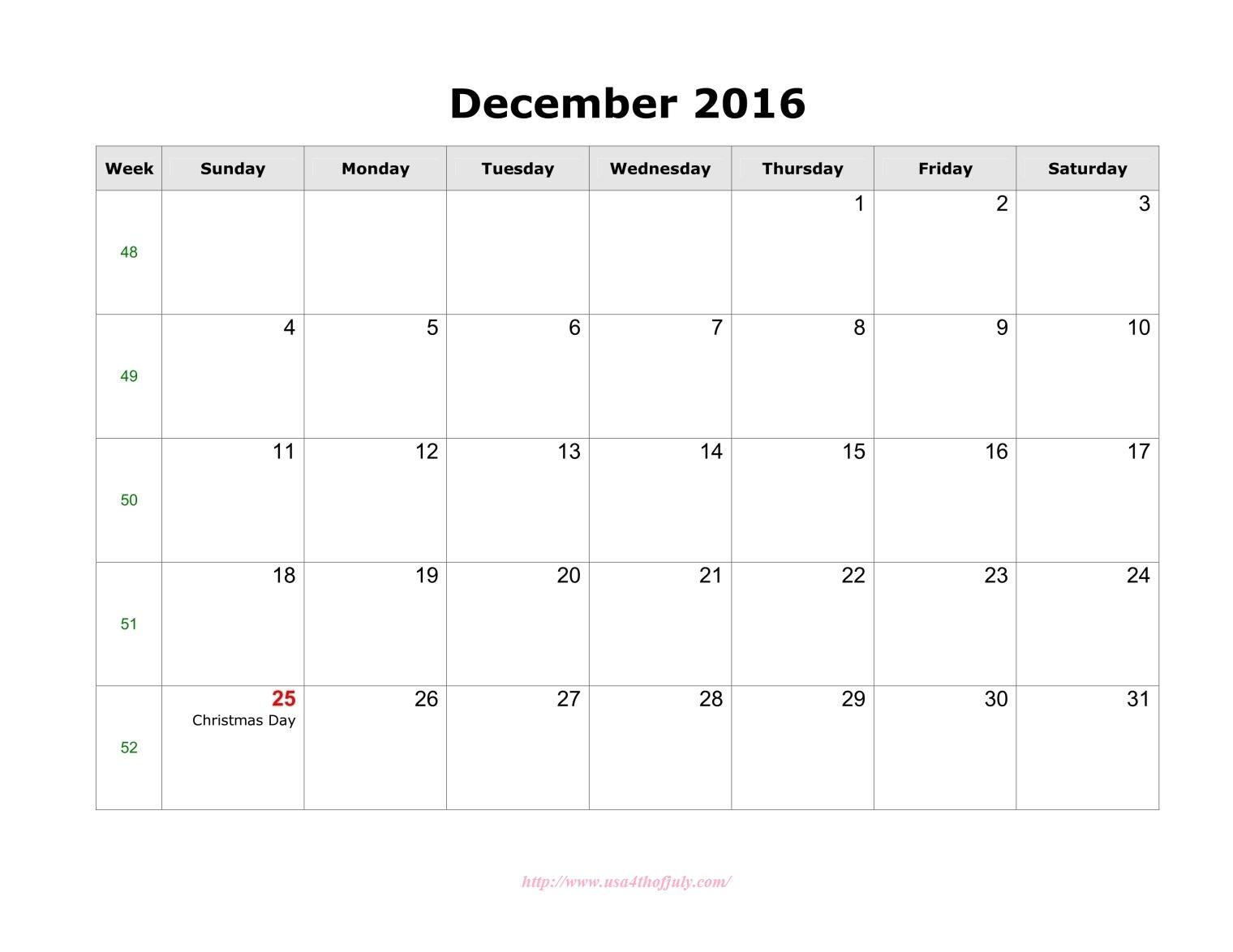 Free December Editable Calendar