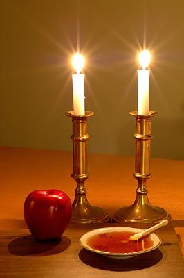 Rosh Hashanah candle lighting