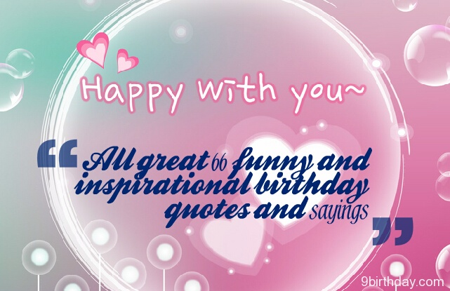 Happy Birthday Quotes and Sayings