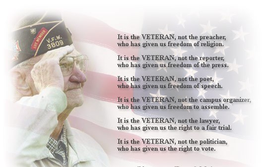 Happy Veterans Day Thank You Poems