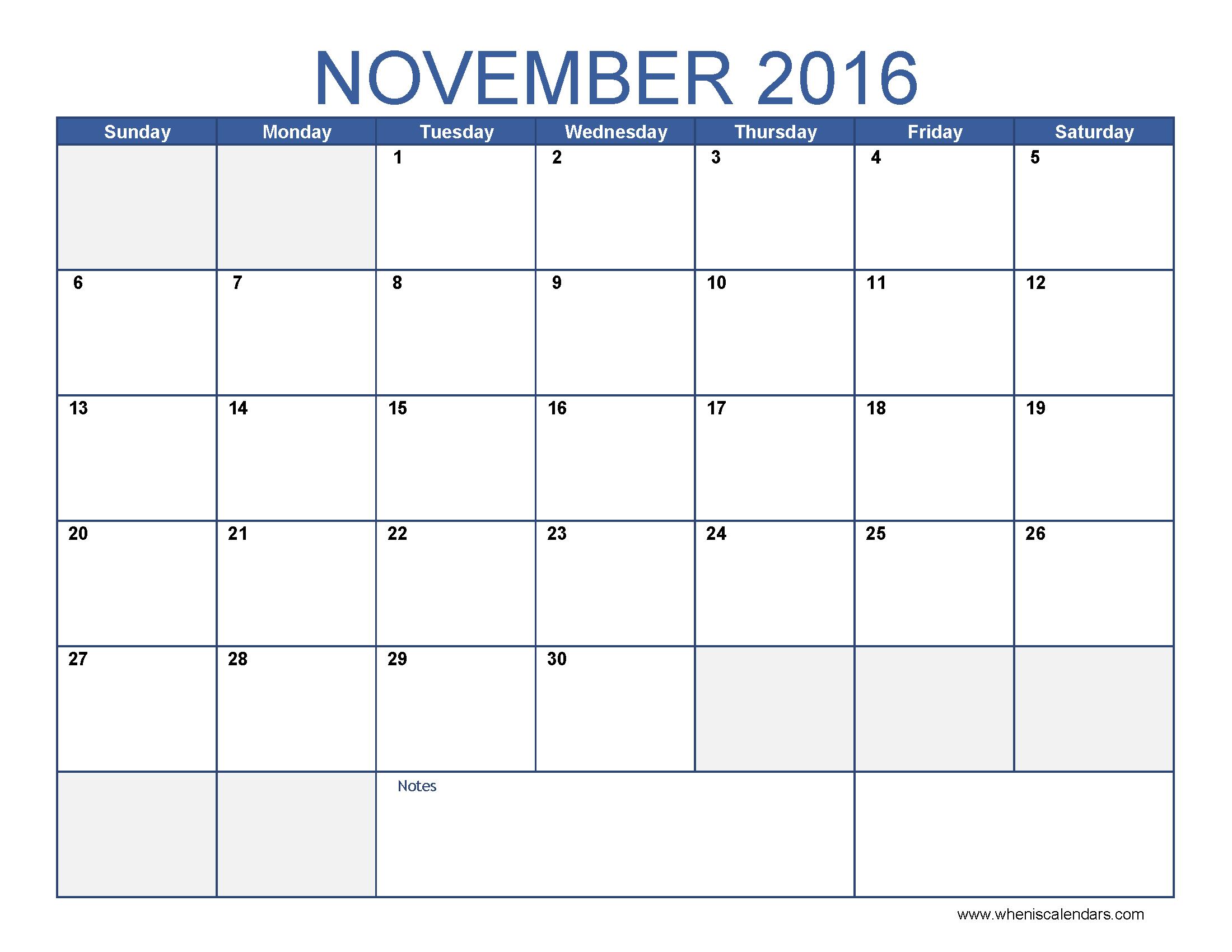 ... you accordingly. Also Check: Free November 2016 Printable Calendar