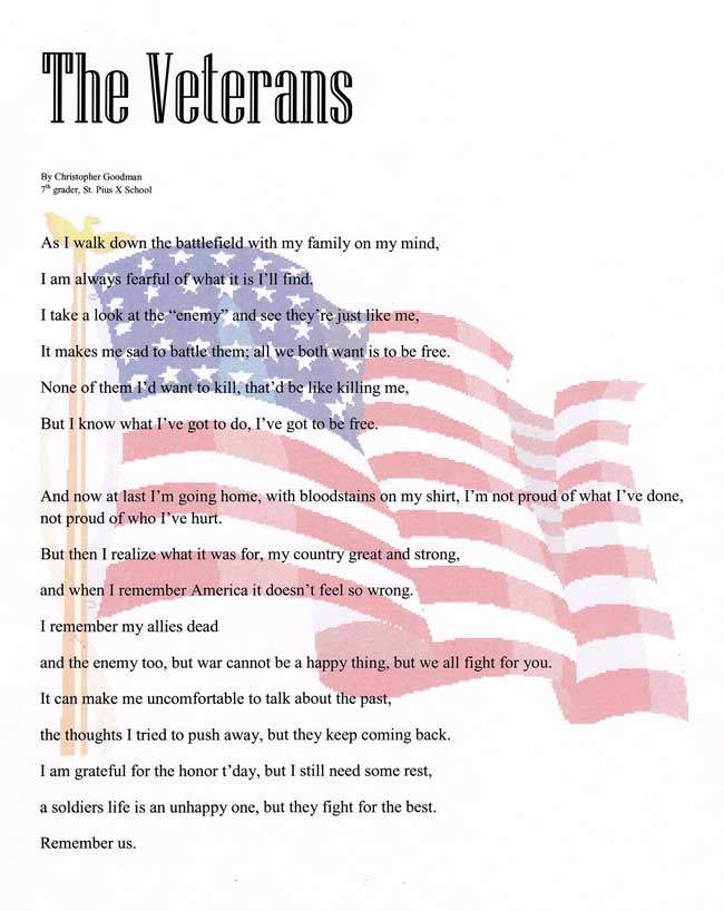 Poems for Veterans Day