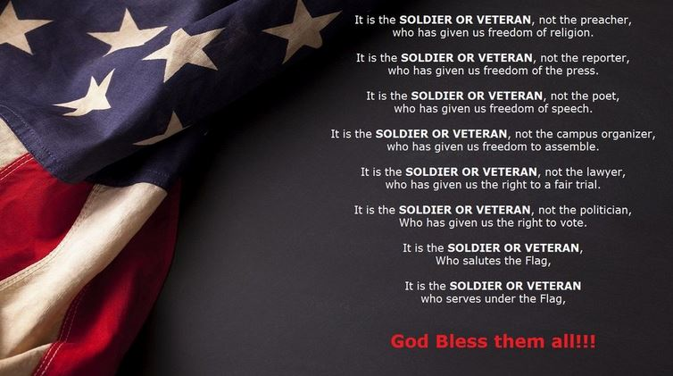 Veterans Day Thank You Sayings