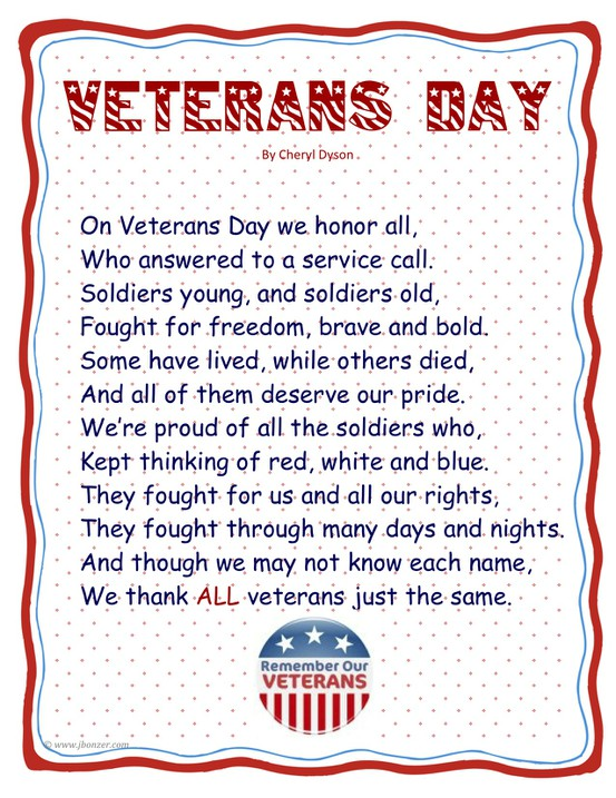 Famous veterans day poems