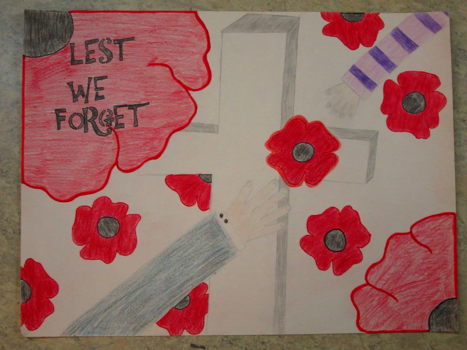 remembrance day posters by kids