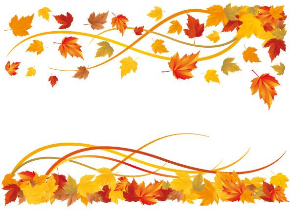thanksgiving leaves borders