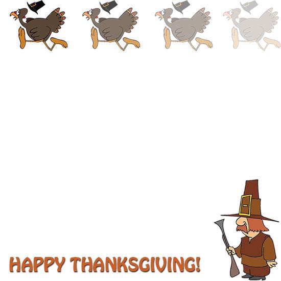 thanksgiving turkey borders