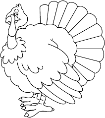 turkey clipart free black and white