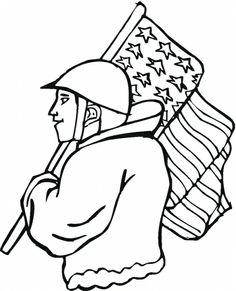 veterans day black and white clip art
