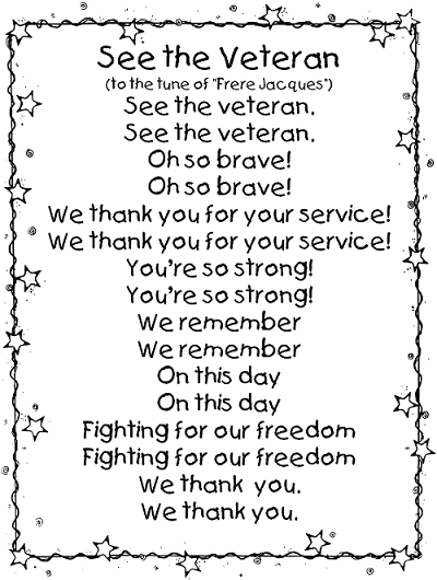 veterans day thank you poems