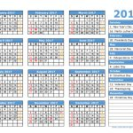 2017 Calendar Holidays Printable