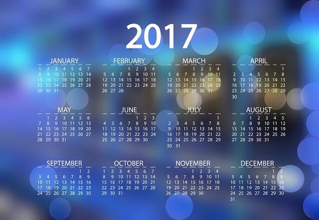 New Year 2017 Calendar Printable