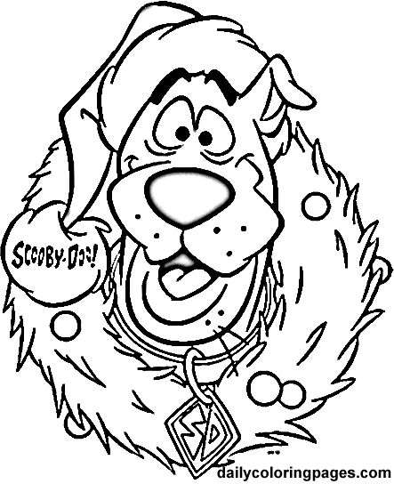 christmas cartoon characters coloring pages