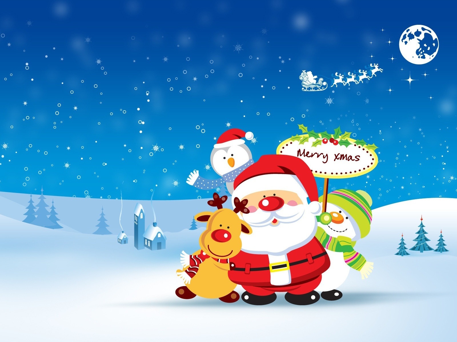 merry christmas cartoon pictures