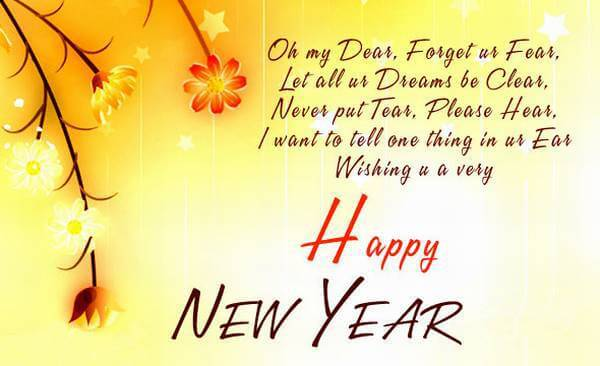 new year shayari in english