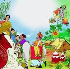 pongal festival drawings