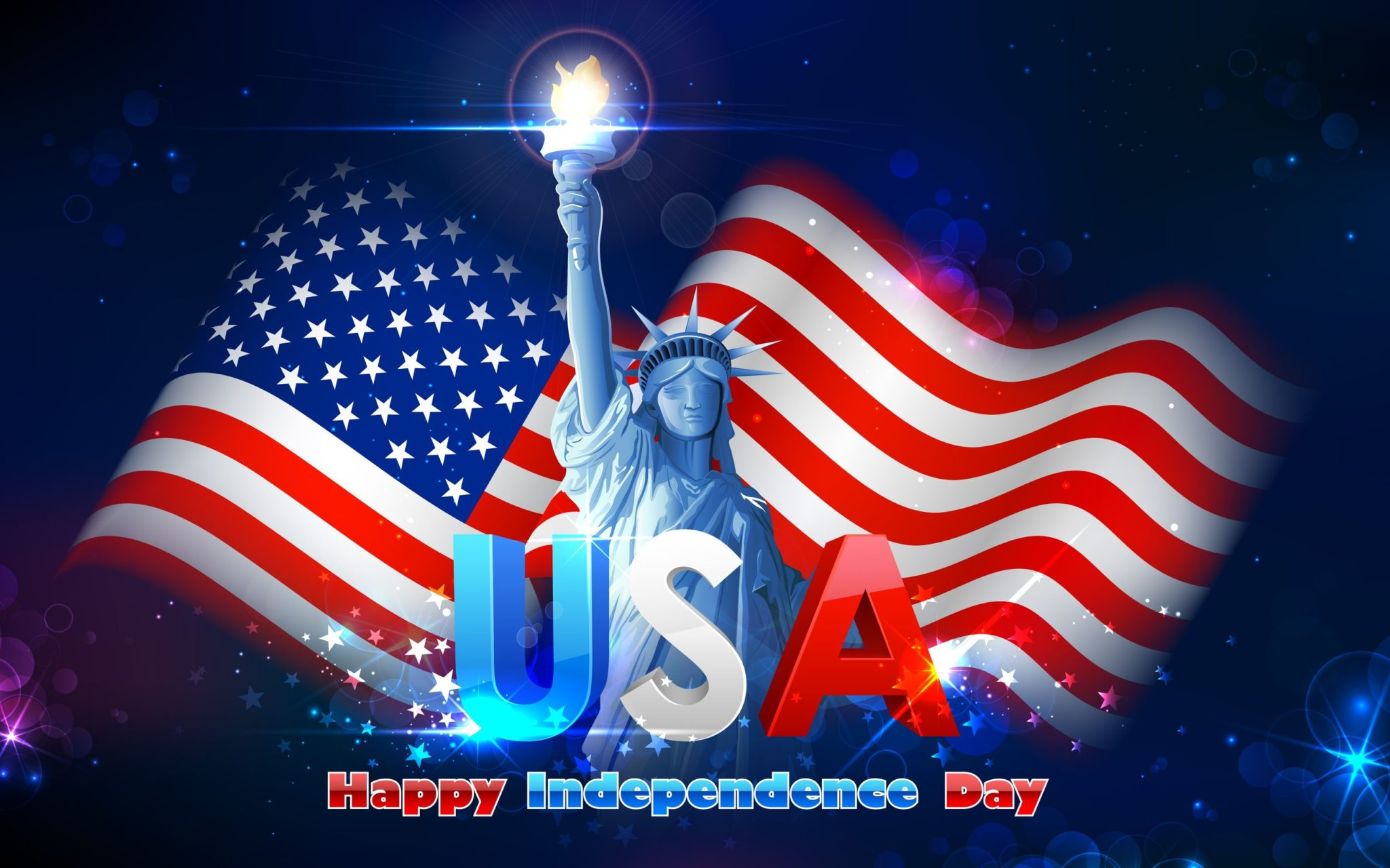 Happy Independence Day America 4th Of July Statue Of Liberty Picture