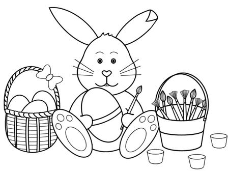 black and white easter bunny pictures