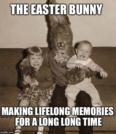 creepy easter bunny meme