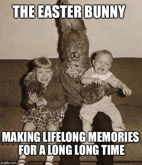 creepy easter bunny meme