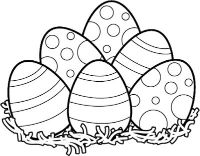 easter egg clipart black and white