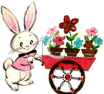 vintage easter bunny clipart