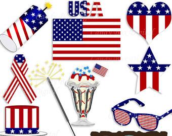 4th ofJuly American Flag Clip art