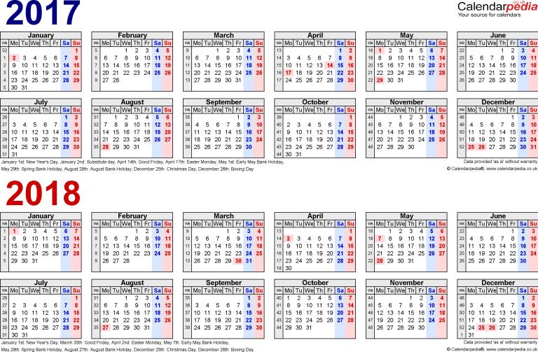 Calendar 2017 Printable Canada With Week Number Online Edit