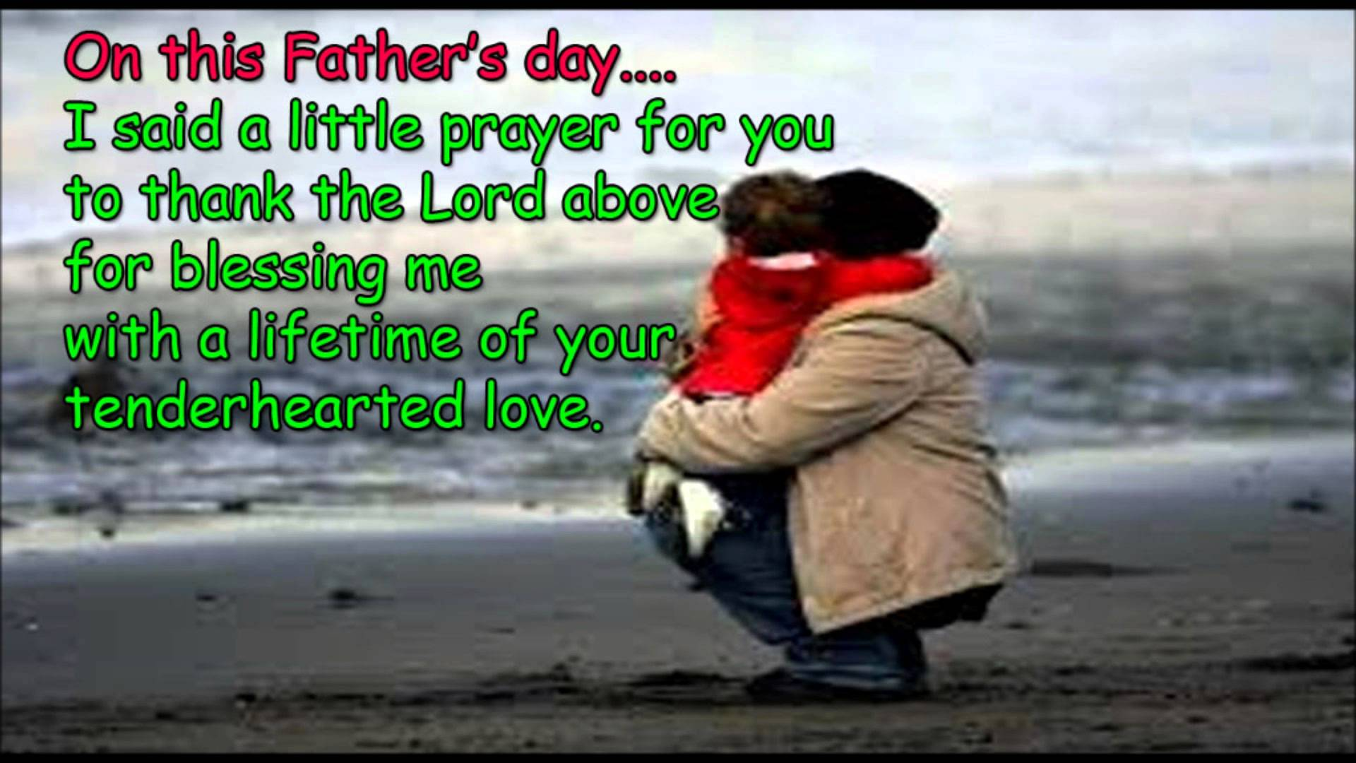 Happy Father's day greetings from daughter