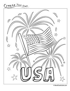 Kindergarten Memorial Day Coloring Pages