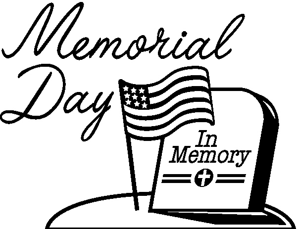 Memorial Day Clipart Black And White