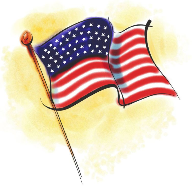 Memorial Day Flag Clipart