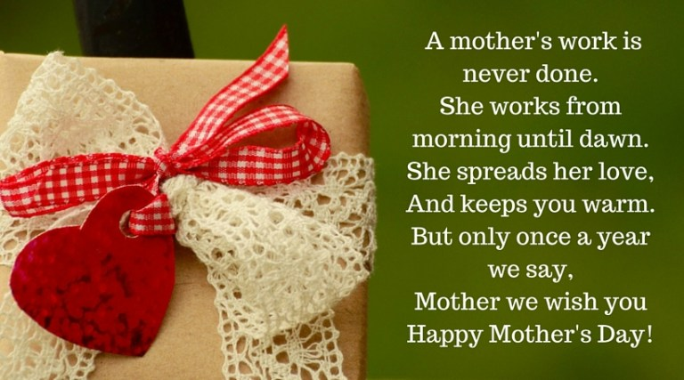 Mothers Day SMS in English
