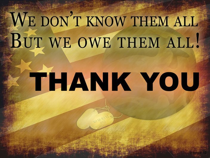 Thank You Memorial Day Poems
