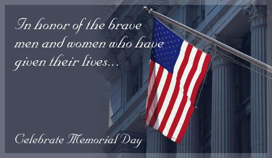Thank you Memorial day