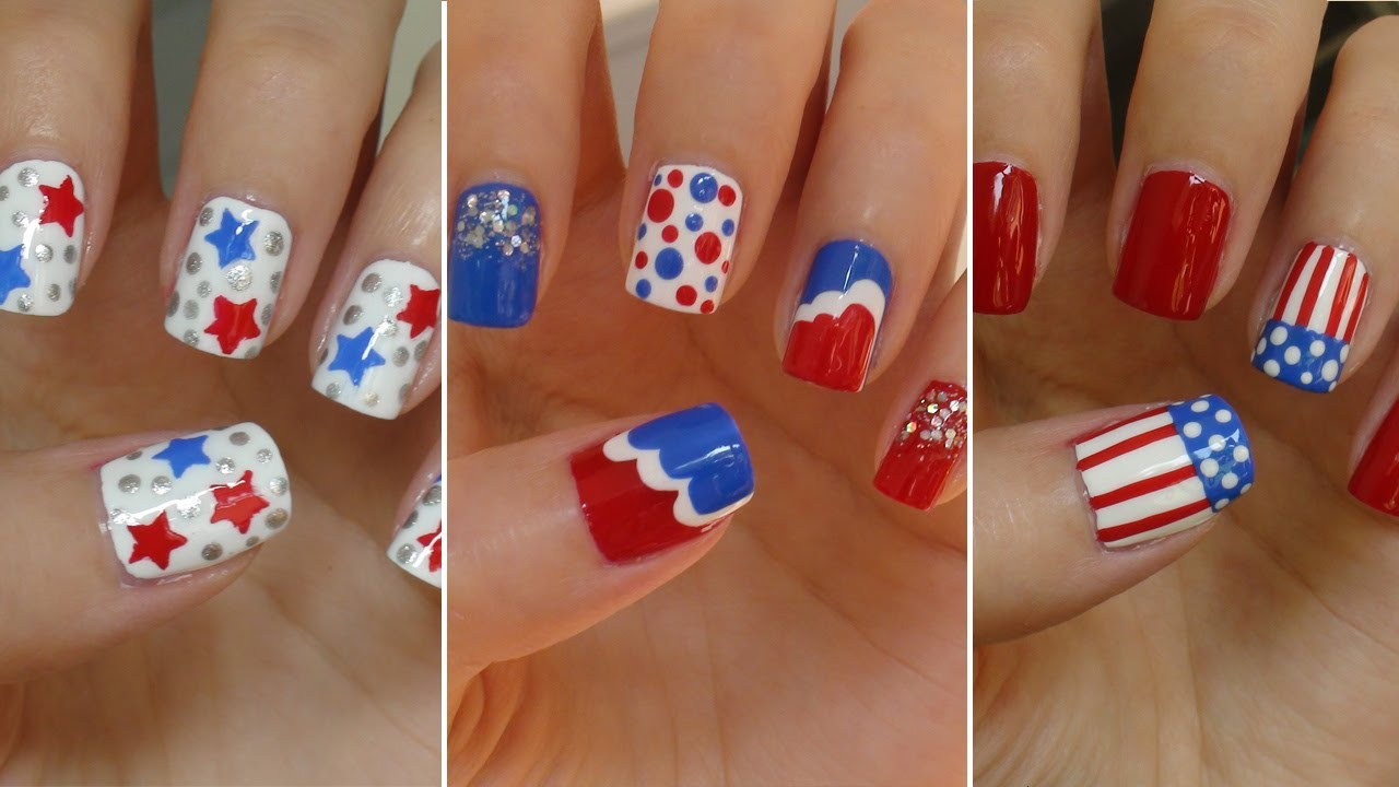 4th of july nails designs