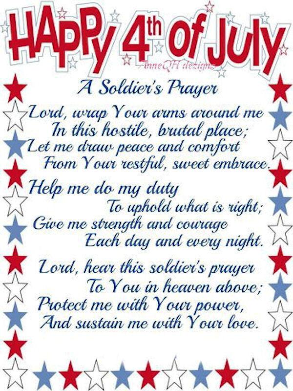 Happy 4th of july prayer
