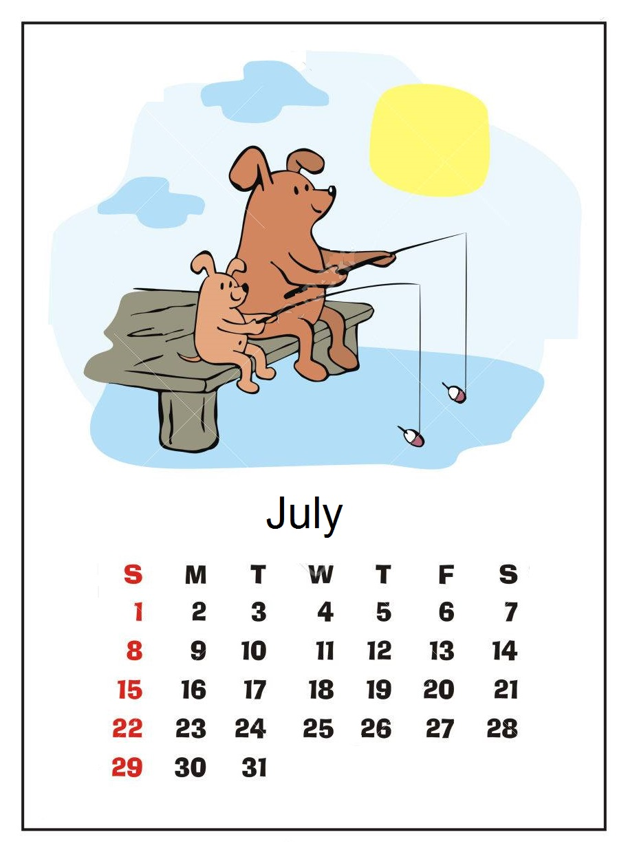 Cute July 2018 Calendar on Tumblr