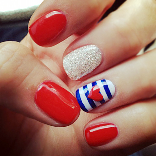 Fourth of July Nails Art