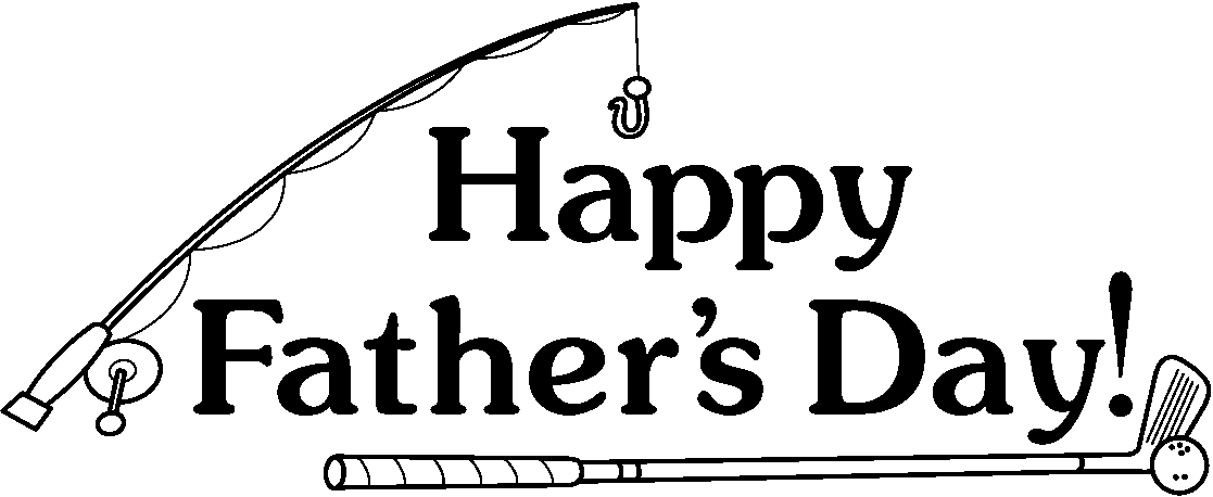 fathers day clipart black and white