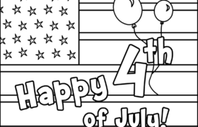 Fourth Of July Coloring Pages FREE