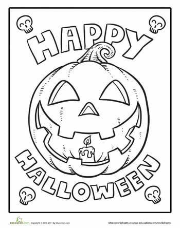 Color the Happy Halloween Coloring Page