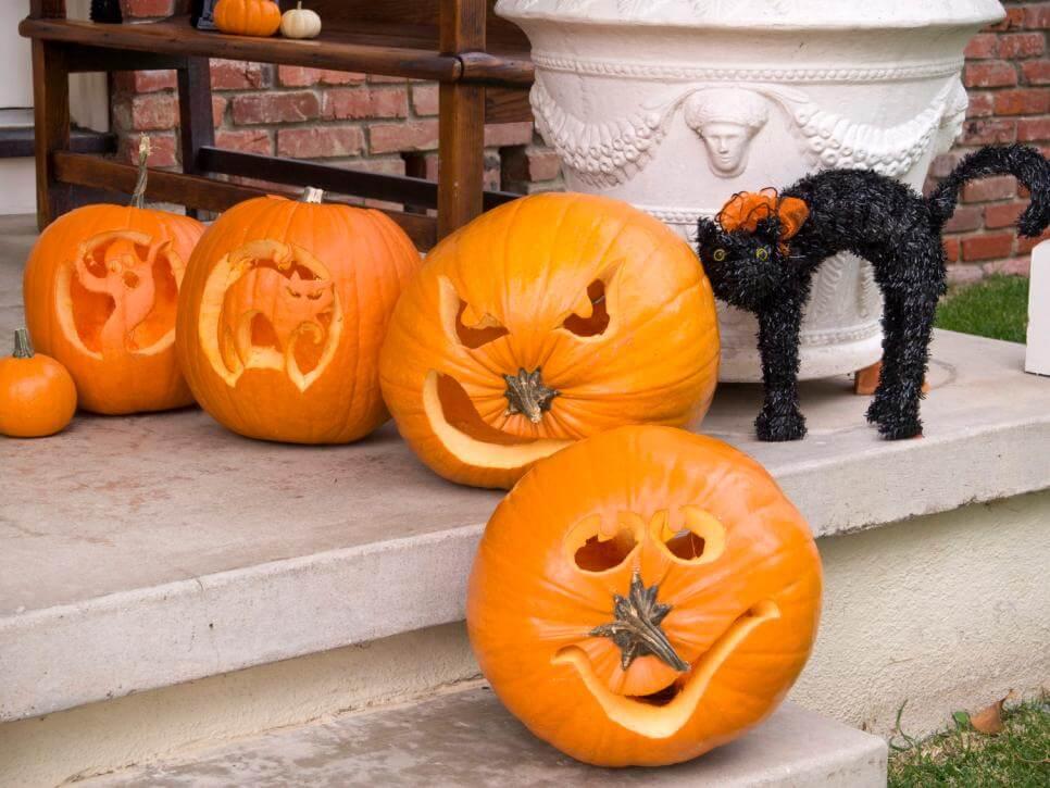 Easy Halloween Pumpkin Carving Pattern
